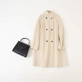 KAILIDA 100%の両面カシミヤウールのコートの 生地6のダブルブレスト女性のコート (Color : Black, Size : M)