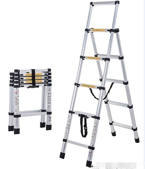 家用梯子 摺疊人字梯室內多功能五步梯加厚鋁合金伸縮梯子小梯凳 聖誕節全館免運
