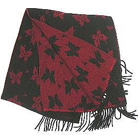 【波克貓哈日網】雙面保暖圍巾◇日本製造◇《蝴蝶圖案》