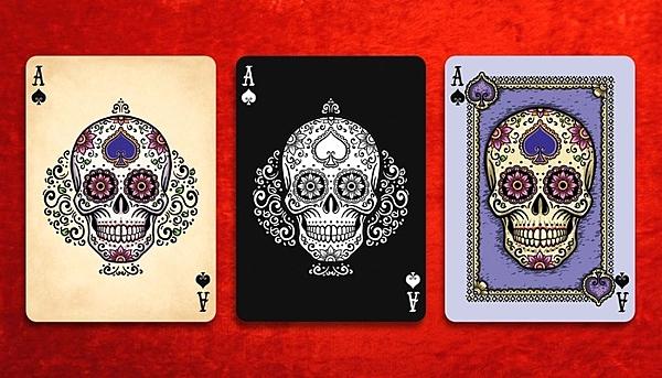 【USPCC撲克】Black Dia de Los Muertos Bicycle Playing Cards