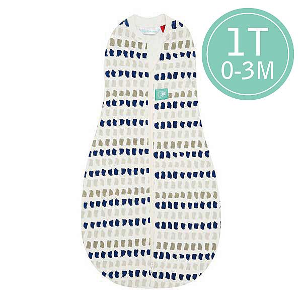 ergoPouch ergoCocoon 二合一竹纖有機舒眠包巾1T(春.秋款)(0~3M) 懶人包巾-藍灰點