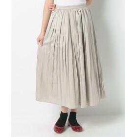 (Samansa Mos2/サマンサ モスモス)スウェード風プリーツスカート/レディース グレー