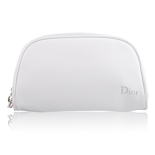 Dior 迪奧 時尚美妝包-011號(19x7x11cm)#白【美麗購】