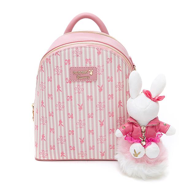 PLAYBOY 後背包 龐克兔系列 粉色 582-6801-12-8