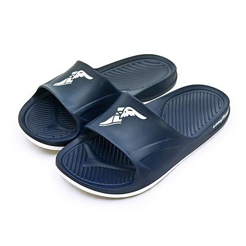LIKA夢 GOODYEAR 固特異 防水輕量彈力休閒運動拖鞋 乘風踏浪系列 藍白 93776 男