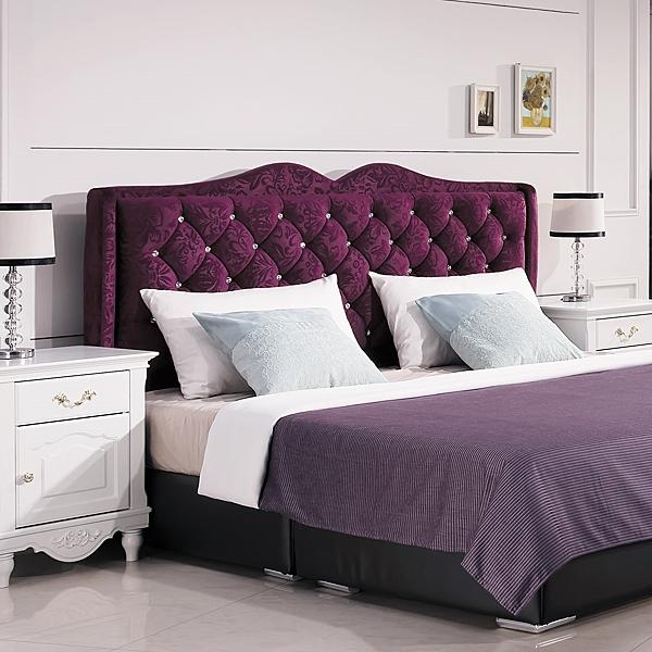 OB004-奧莉薇6尺紫色絨布床頭片(19HY2/B021-07)【DD House】