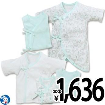 新生児肌着5点セット(クマドライブ)【新生児50-60cm】[赤ちゃん ベビー 肌着 ベビー服 セット 女の子 男の子 キッズ 子供 ベビーウエア