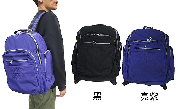 ~雪黛屋~YESON 後背包大容量主袋+外袋共五層MIT可A4資夾電腦高單數防水超輕防水尼龍布Y7006