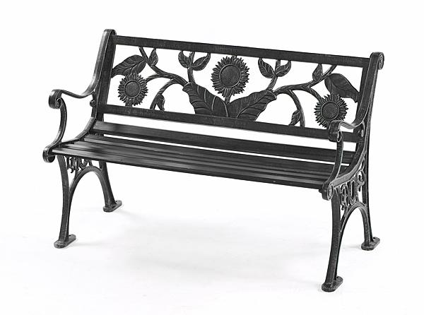 【南洋風休閒傢俱】公園椅系列-4尺向日葵鋁公園椅  戶外休閒公園椅  騎樓等待椅 #304