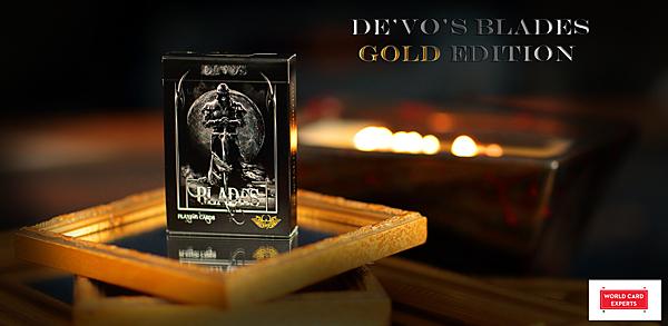 【USPCC撲克】撲克牌 De vo s Blade gold edition (金版) 刀刃