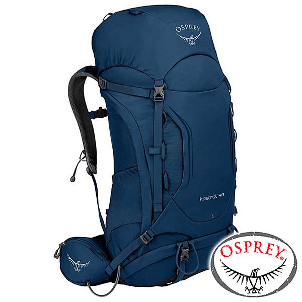 【美國 OSPREY】Kestrel 48 透氣登山背包46L S/M『湖泊藍』10001819 登山.露營.休閒.旅遊.戶外.後背包