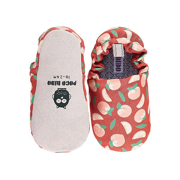 英國POCONIDO 手工鞋|嬰兒鞋|學步鞋~紅紅小蜜桃 (6~24M)
