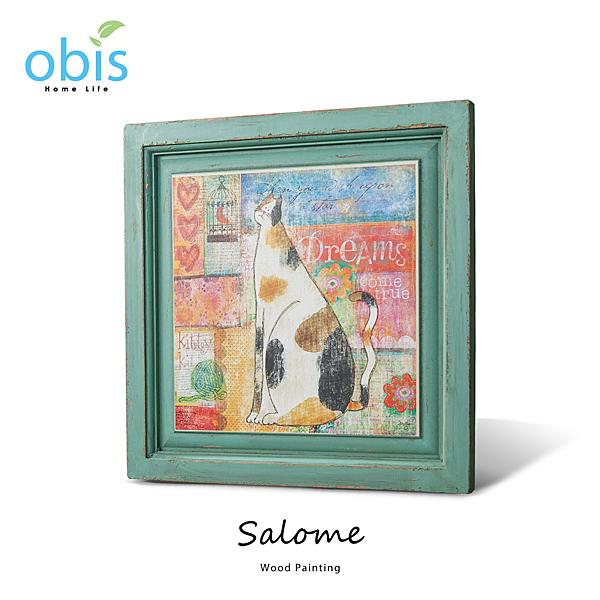 AA012-Salome暖暖午後鄉村風木板畫/預購(OBS/12MH900ZBW2-2進口貓咪畫)【DD House】