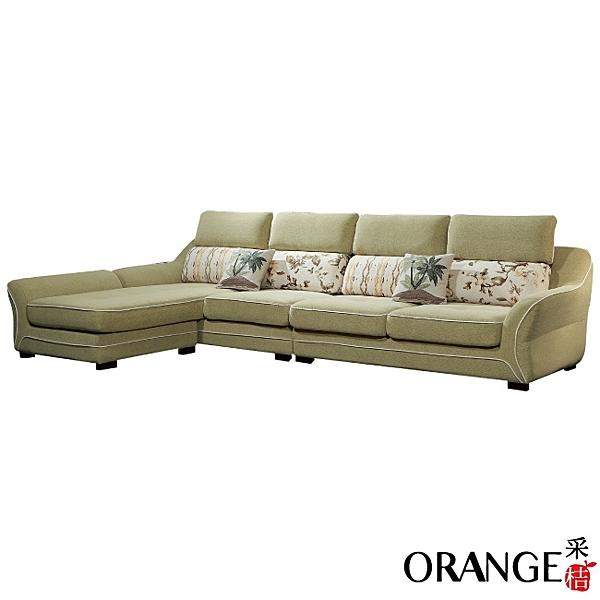 【采桔家居】羅柏  時尚絲絨布L型獨立筒沙發組合