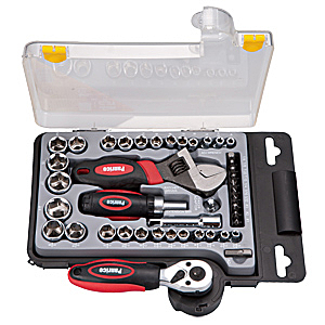 維修超值工具組 台灣製造 2分3分45件套筒起子扳手工具組 含棘輪扳手及轉換頭