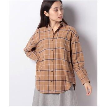 Te chichi Lugnoncure 21ネルチェックシャツ LS(キャメル)【返品不可商品】