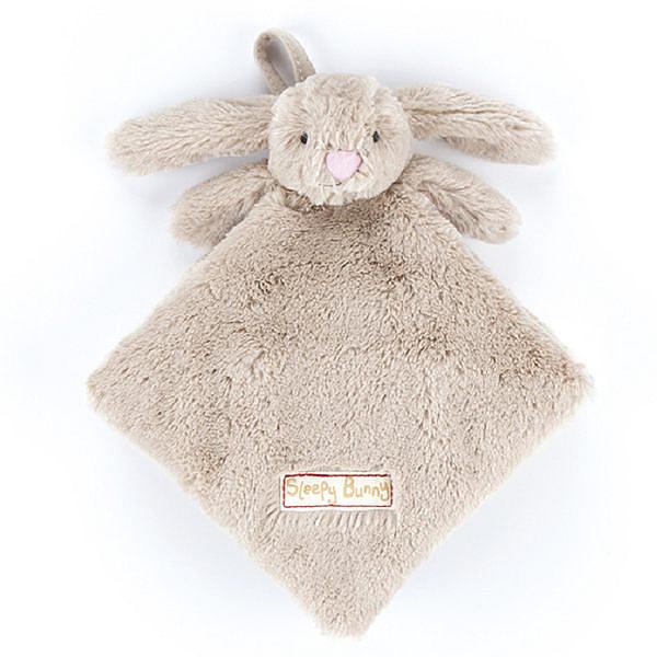 英國JELLYCAT Book 感官刺激布書-愛睏的小兔兔