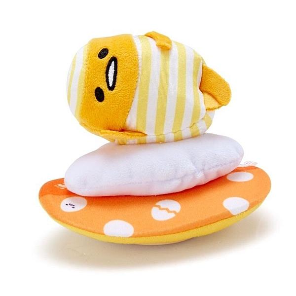 〔小禮堂〕蛋黃哥 絨毛玩偶娃娃造型迴力車玩具《黃橘》擺飾.發條玩具 4901610-83584