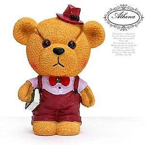 HONEY COMB 紅色淑女小熊存錢筒 GZ18