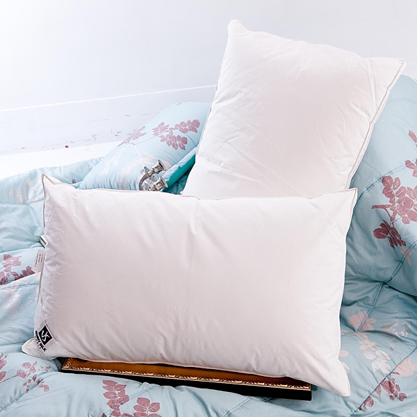 六星級羽絨枕.92%羽絨+8%小羽毛.立體車邊.全程臺灣製造【名流寢飾家居館】