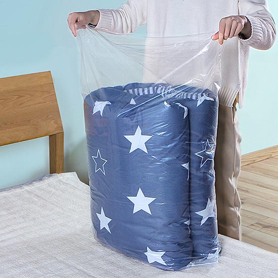 中號家用棉被收納袋(10入-70x100cm) 防塵 透明 大整理袋 衣服 搬家 打包袋【T036】米菈生活館