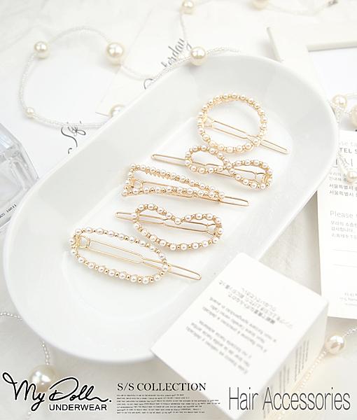 典雅公主系合金珍珠造型髮夾 / 5款【190916CHD001】MyDoll