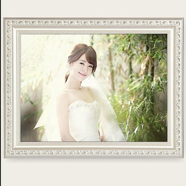 實木相框 挂牆歐式婚紗照相框創意擺台畫框