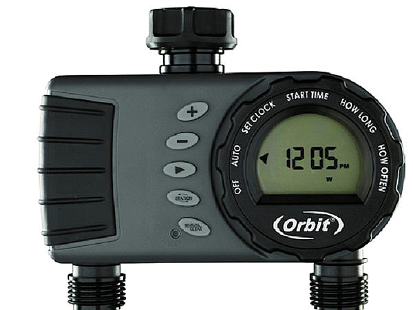 美國ORBIT雙區自動定時灑水器(一進雙出,雙迴路,適合大範圍)