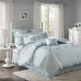 マディソンパーク 綿 掛け布団 9点セット Mindy 9 Piece Cotton Percale Comforter Set Aqua