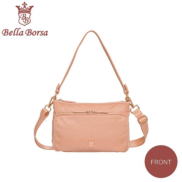 日本 Bella Borsa - 多口袋兩用側背包-珊瑚橘 BB18A003CR