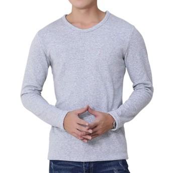 ロングtシャツ メンズ tシャツ 長袖 無地 厚手 裏起毛