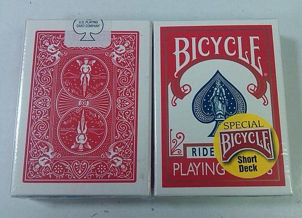 【USPCC撲克館】撲克牌BICYCLE short 長短牌(紅背