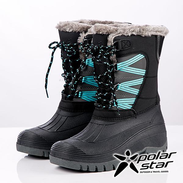 【PolarStar】女防潑水保暖雪鞋『黑』P19635 雪地靴.雪鞋.賞雪.滑雪.雪地必備.保暖.抗寒