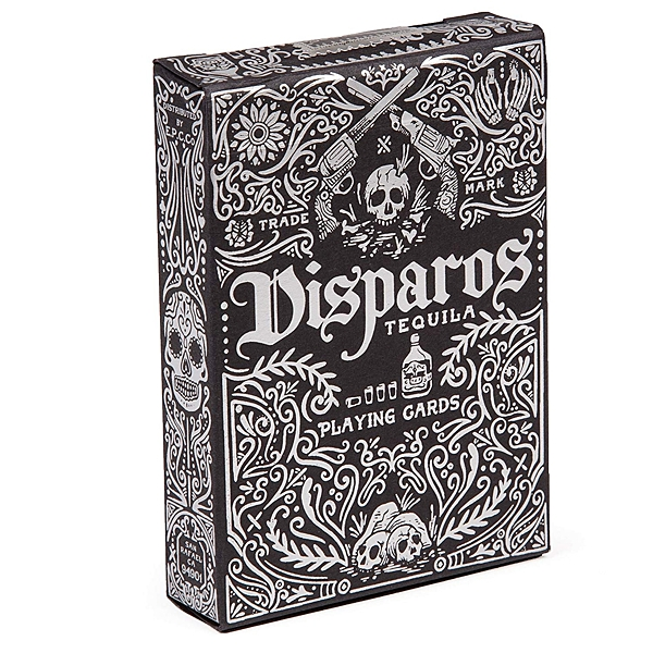 【USPCC 撲克】撲克牌 銀黑 DISPAROS TEQUILA BLACK PLAYING CARDS