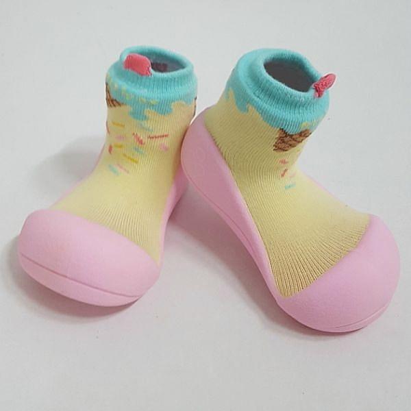 韓國 Attipas 快樂腳襪型學步鞋-冰淇淋甜心