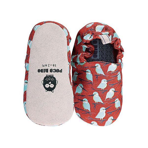 英國POCONIDO 手工鞋|嬰兒鞋|學步鞋~紅褐翡翠鳥 (6~24M)