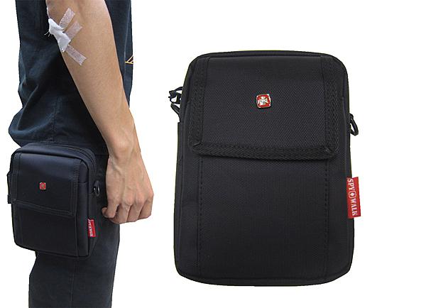 ~雪黛屋~SPYWALK 腰包6吋手機拉鍊主袋外袋5.5寸手機外掛式工具包隨身物品主袋+外袋SD8113