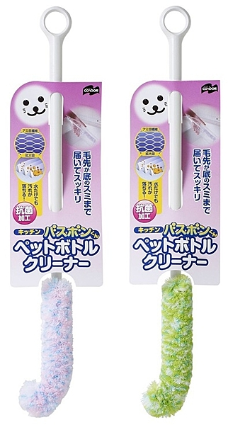 山崎産業 抗菌纖維杯刷 專用清潔刷 (免洗劑) 日本製 粉 156764 綠 156771 分售 隨機出貨