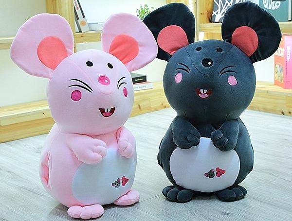 【40公分】卡通可愛鼠娃娃 睡覺抱枕 玩偶 聖誕節交換禮物 生日禮物 兒童節禮物 鼠年行大運