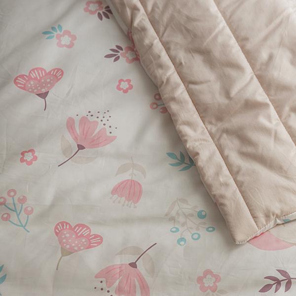 睡袋 兒童睡袋【花漾】四季多用途睡袋 收納便利 無毒印染