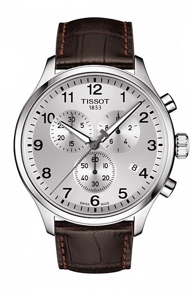 TISSOT天梭 韻馳系列計時石英錶(T1166171603700)白面皮/45mm