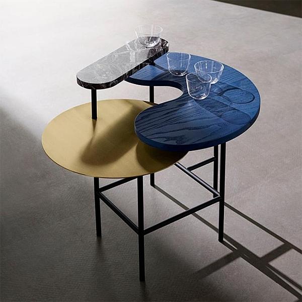 茶幾 輕奢茶幾創意簡約客廳沙髮實木桌子大理石金屬角幾北歐邊幾 夢藝家