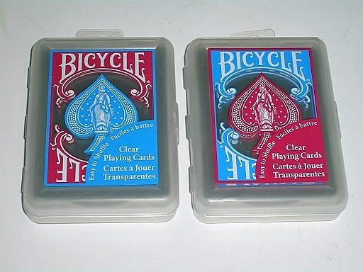 【USPCC撲克館】撲克牌BICYCLE 808透明 塑膠牌紅藍/隨機出貨
