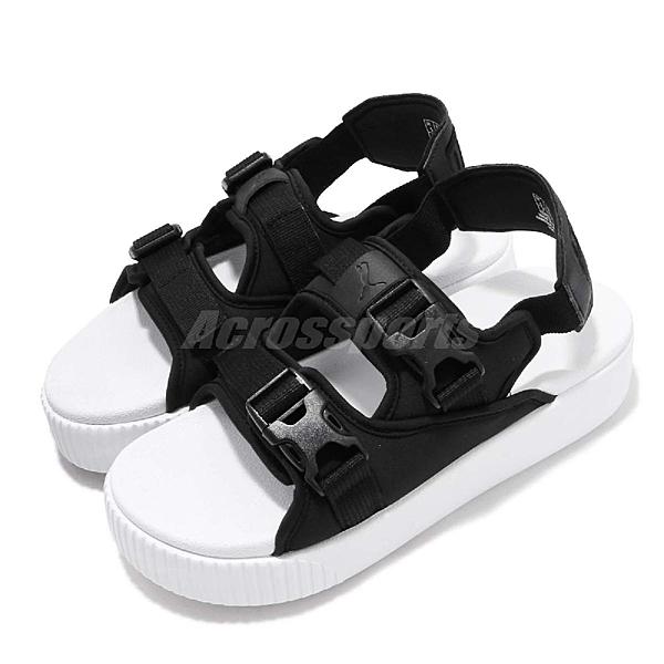 Puma 拖鞋 Platform Slide YLM 19 黑 白 厚底 女鞋 Fenty 涼拖鞋 涼鞋【ACS】 36942401