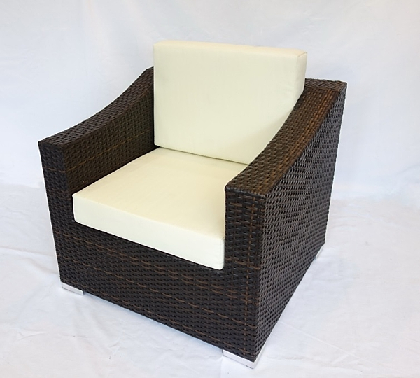 【南洋風休閒傢俱】戶外休閒桌椅系列-編藤休閒沙發  戶外椅  戶外單人沙發  (HC-360-1)