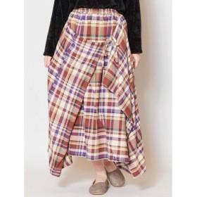 (CAYHANE/チャイハネ)【チャイハネ】チェック柄変形スカート IAC-9321/レディース ベージュ