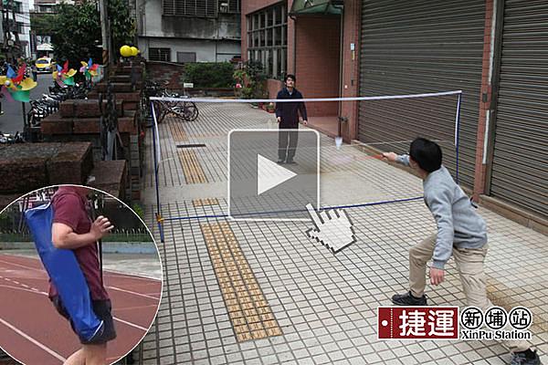 簡易輕便攜帶式羽毛球網架