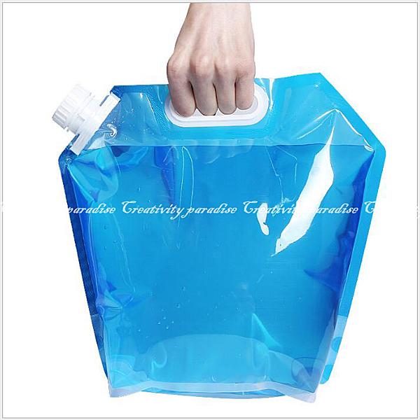 【折疊水袋】環保10L大容量手提式儲水袋 戶外旅行登山露營烤肉