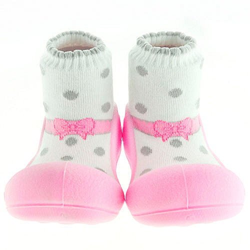 韓國 Attipas 快樂腳襪型學步鞋-芭蕾粉紅