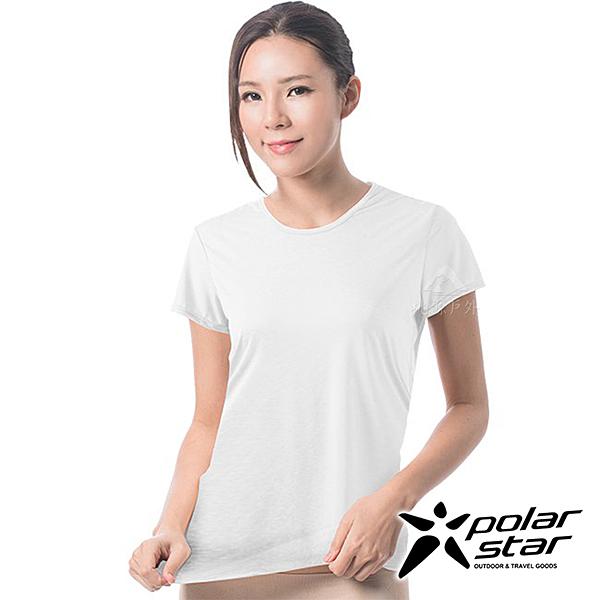 PolarStar 女 排汗快乾T恤『白』P17140 吸濕 排汗 運動上衣 女生上衣 居家上衣 短袖